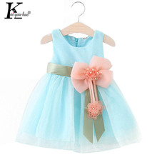 Buy 2017 Summer Baby Girl Dress Princess Bow Wedding Dresses Girls Clothes Kids Birthday Party Costume Children Clothing 0-3Year for $3.25 in AliExpress store