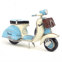 New Vespa metal model motorcycle Italy vintage toy motorcycle with handbag toy hot wheel Diecast metal model motorcycle toys(China)