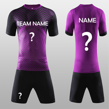 Free Shipping New 17 18 Nice Purple Color Men's Soccer Jerseys Sets Can Customize Name Soccer Uniforms Shirts Football Suit Kits