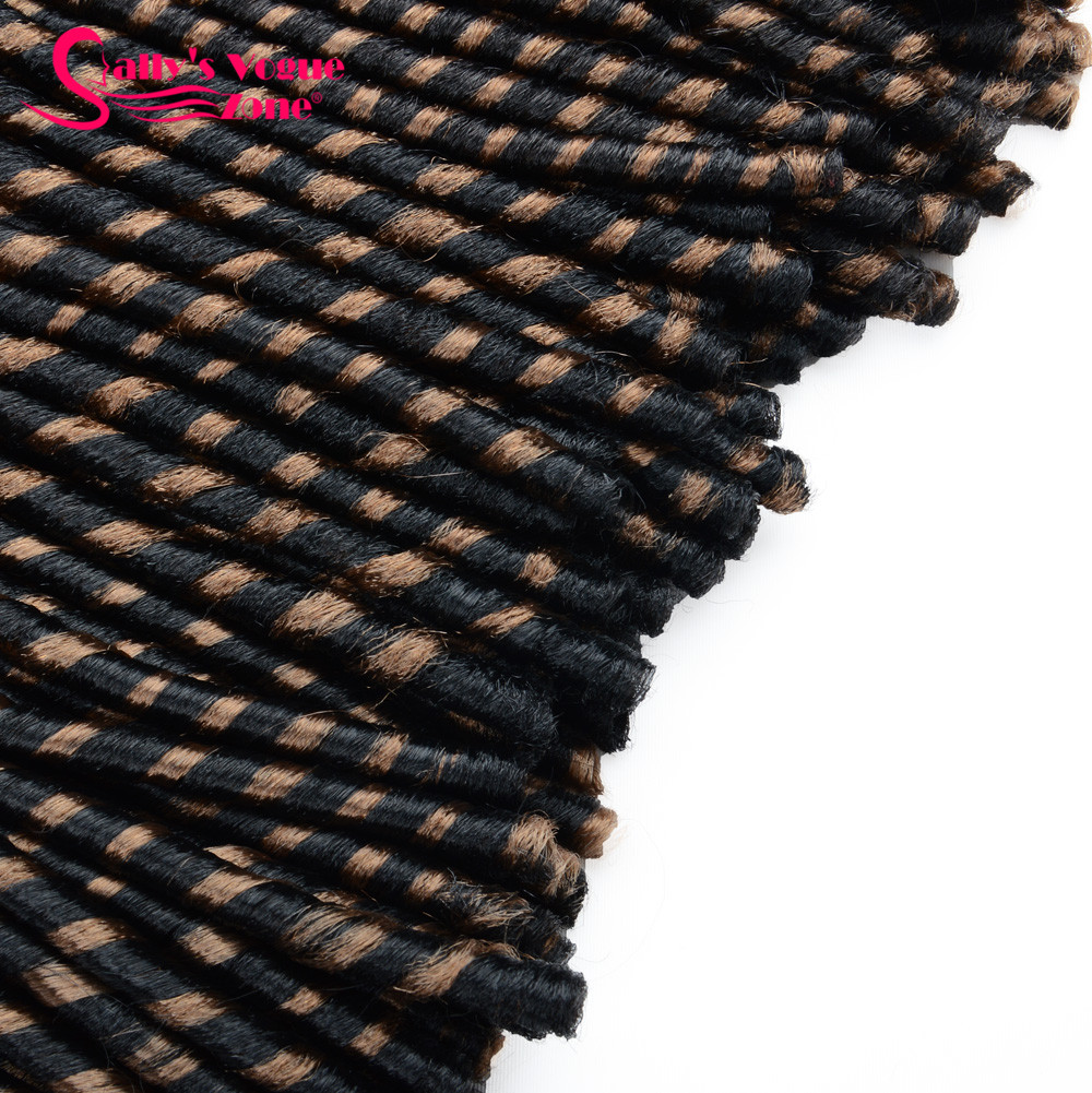 24 Roots Faux LocsCrochet Hair 18 Crochet Faux Lock Dreadlock Crochet Braids hair Extensions Synthetic Braiding hair Soft lock (131)