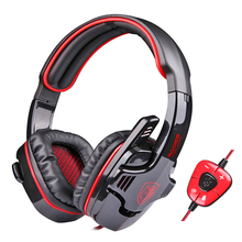 SA901 7.1 Virtual Surround Sound USB Gaming Headphone PC Stereo Game Headset With External USB Sound Card & Microphone