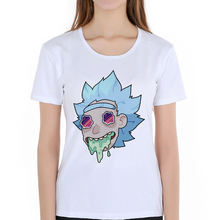 Casual women t-shirt Rick and Morty Peace among world brand-clothing Rick Morty skateboard T shirt women summer undershirt D5-2#(China)