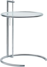 Eileen Gray Side Table with Tempered Glass Top Glass side table, Eileen Gray End Table, home minimalist modern tea talbe