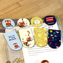 Free Shipping Cute Kawaii Lovely Magnetic Bookmarks Cartoon Animal Book Marks paper Clips Creative Gift School Supplies 3035