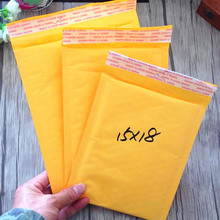 4pcs/lot kraft Yellow Bubble Envelope Mailing Bags Self Adhesive Padded Envelopes Packaging Courier Bags(China)