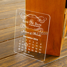 50 Personalised Engraved Acrylic mini Save the Date Wedding Stationary,Wedding wishing well cards,Rsvp cards