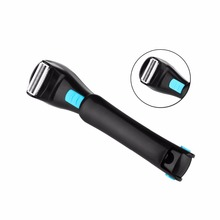 Men Shaving 180 Degrees Foldable Electric Back Hair Shaver Battery Manual Long Handle Hair Remover