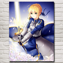 Fate Series: Stay Night Saber Armor Sword Art Silk Poster Prints Home Decor Painting 12x16 18x24 24x32 30x40 Inch Free Shipping(China)