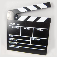 New hot Arrivel Cute Classical Director Video Clapper Board Scene Clapperboard TV Movie  Film Cut Prop zx*DA1144#c3
