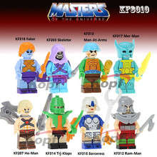 Single Sale Masters of the Universe Ram-Man Man-at-Arms Trj-Klops Soreceress He-Man Building Blocks Children Gift Toys KF8010(China)