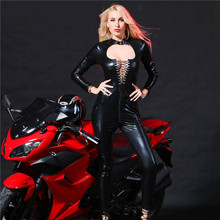Buy Lady Nightclub Bodysuit Sexy Lingerie Latex Erotic Temptations Rope Saucy Long Sleeves Sexy Catsuit Costume Role Playing Suit