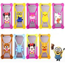 Cute Cartoon Universal Cell Phone Holster Cases Fundas For Fly IQ239 ERA Nano 2 Case Silicon Coque Cover(China)