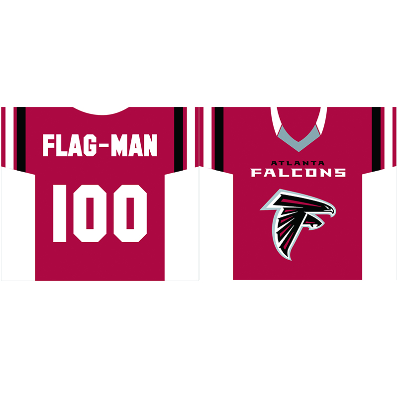 "Atlanta Falcons players jersey Flag 30""x34"" double side 100D Polyester jersey Banner(China (Mainland))"