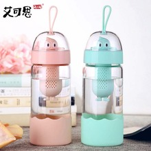 My Glass Water Bottle Glass girls cute creative portable fresh personality student Bottle Korean Super Bottle Sports bottle(China)