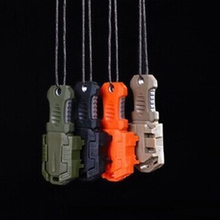 5PCS EDC Gear Multi function Beetle Stainless Steel knife MOLLE webbing buckle outdoor camping Self Defence survival tool FW001