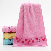1pcs 33*72cm Love Heart jacquard Soft Face Towel Cotton Hair Hand Bathroom Towels badlaken toalla Toallas Mano Gift 42016