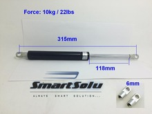 free shipping 22lbs / 10kg 118*315mm Gas Spring Ball Studs Lift Strut Damper for AUTO