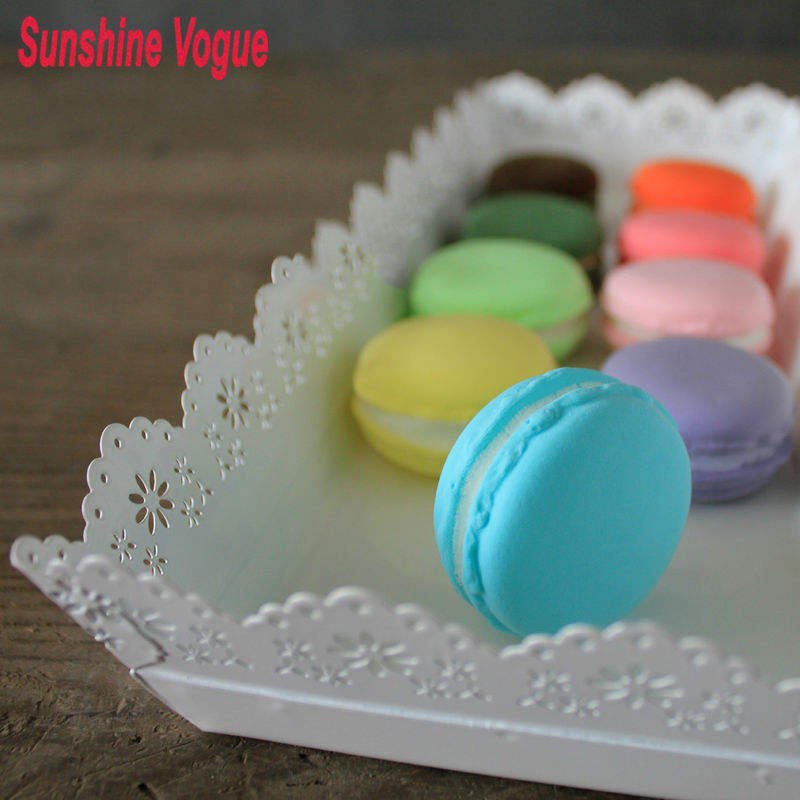 Simulated clay Macrons colorful cookie candy model 3cm window/counter decoration party wedding supplier(China)
