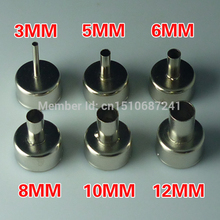 6PCS 3/5/6/8/10/12mm Big Promation High Quality 6Pcs/Set 858 Heat Gun Nozzle Hot Air Desoldering Station Gun Mouth(China)