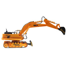 RC car toys 11 channel,Advanced remote control excavator vehicle,Charging set, electric engineering vehicles,best toys for boys(China)
