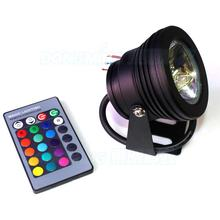 Black Cover underwater lights rgb Pool DC12V 10W RGB pool LED Light 10W +24key Remote Controller, rgb underwater led flashlight