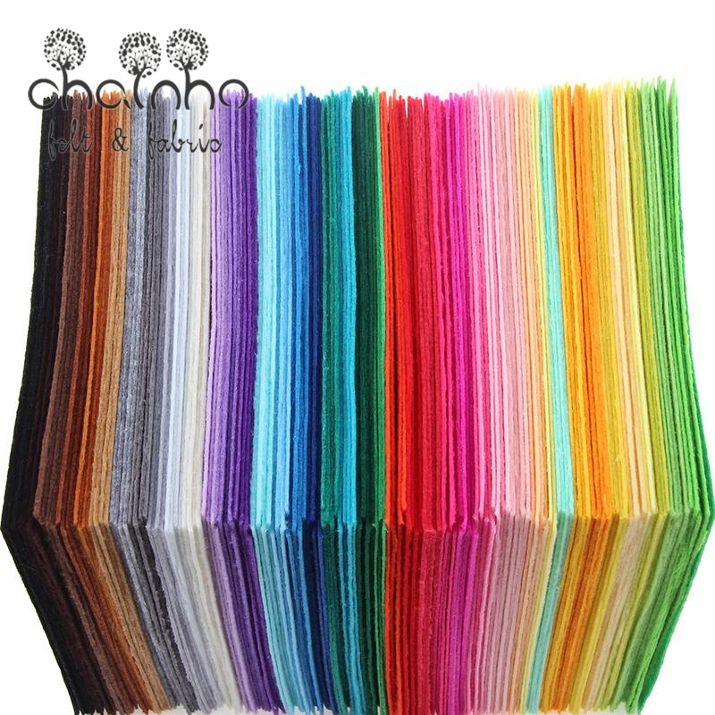 Non Woven Felt Fabric 1mm Thickness Polyester Cloth Felts Of Home Decoration Pattern Bundle For Sewing Dolls Crafts 40pcs15x15cm(China (Mainland))