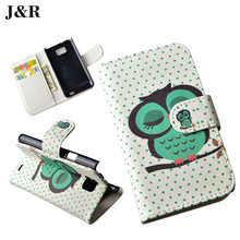Fashion Stand Smart Cover Case For Samsung Galaxy S2 SII i9100 9100 View Window Filp PU Leather J&R Brand Phone Bags Protective(China)
