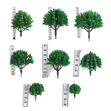 20PCS 30mm+20PCS 40mm Simulation Bonsai Tree Artificial Plants Miniature Landscape fairy figurines Display Sand Table model free(China)