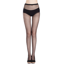 Buy 2016 Ultrathin sexy women tights stockings Top Sheer Thigh High Silk Stockings solid Fishnet Mesh Pantyhose stocking night club