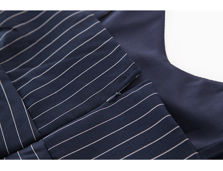 Sling Off Shoulder Sleeveless Striped Jumpsuit 2019 New Fashion V-Neck High Waist Nine Points Wide Leg Jumpsuit Summer 35 Online shopping Bangladesh