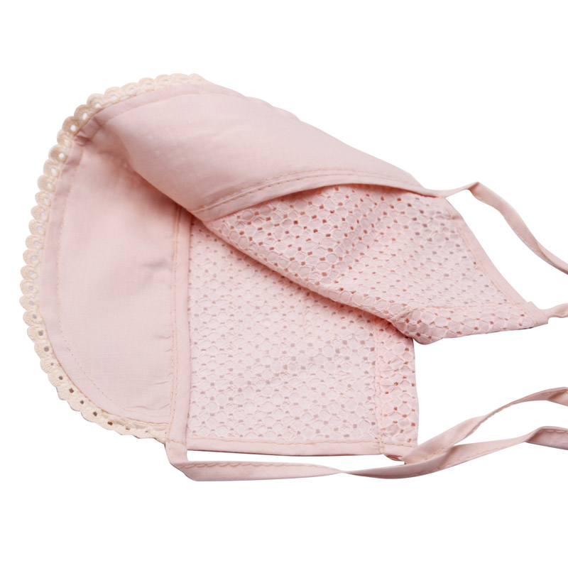 Sweet Princess Baby Girl Hat Summer Lace-up Beanie Pink/White Cotton Bonnet  Enfant for 0-12M - us312