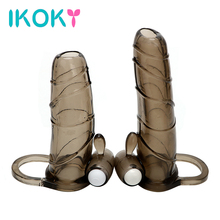 Buy IKOKY Penis Sleeve Solid Head Extend Cock Ring Enlargement Bullet Vibrator Adult Products Penis Extender Sex Toy Man