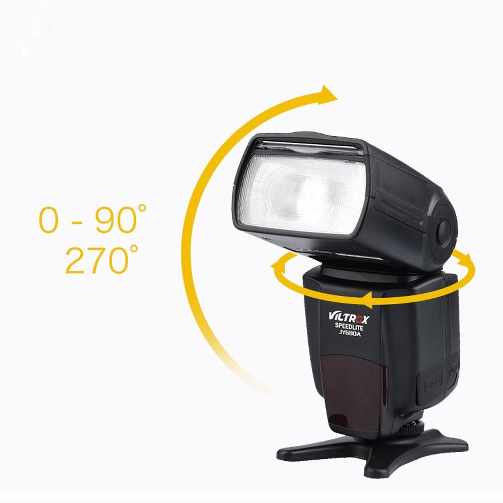 High Performance VILTROX JY-680A Universal LCD Flash Speedlight for Canon Nikon Pentax Olympus Camera<br>