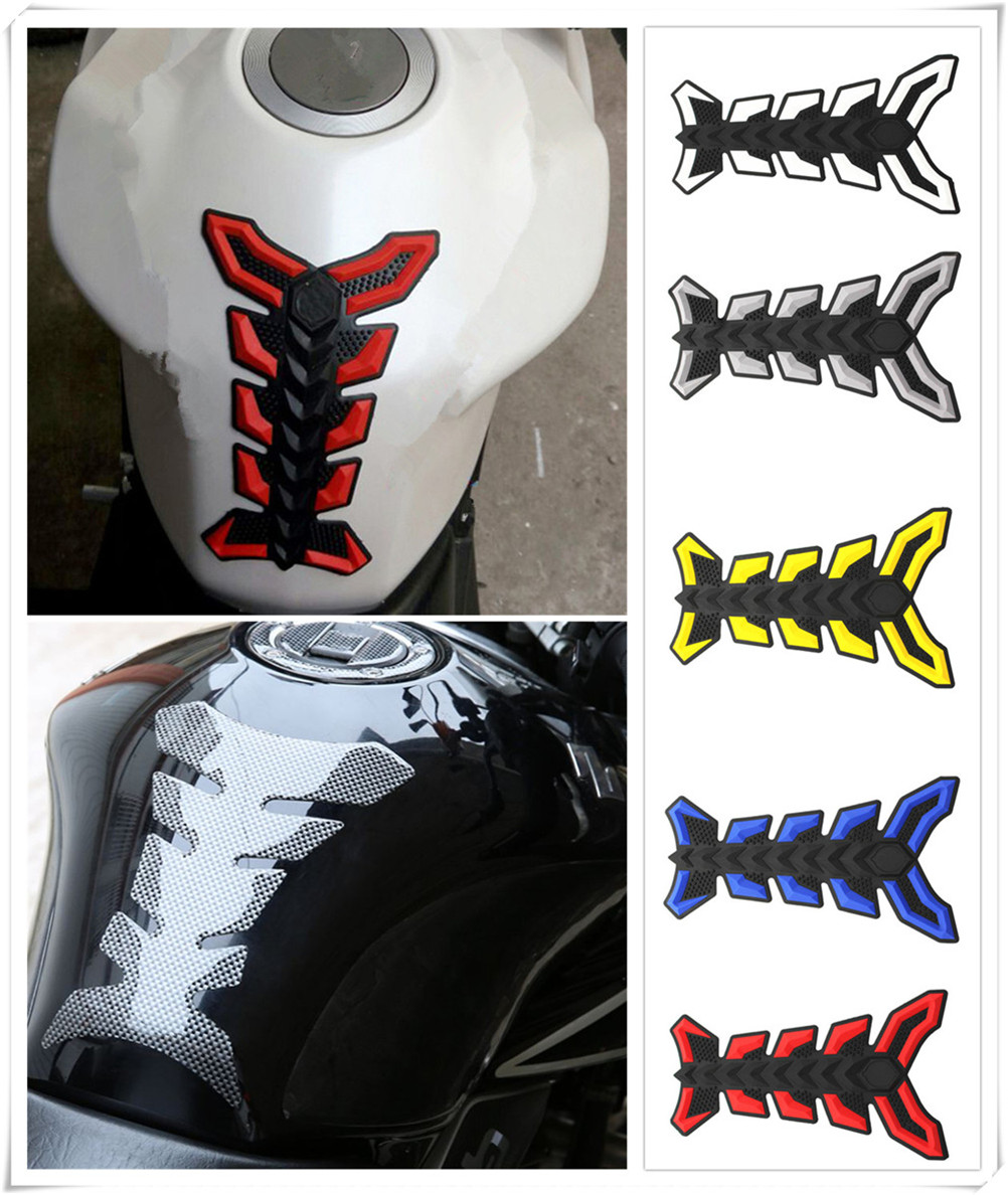 Motorcycle accessories decal fuel tank sticker 3D fish bone glue for Ducati ST4S Scrambler Desert Sled 950 1200 S GT MULTISTRADA