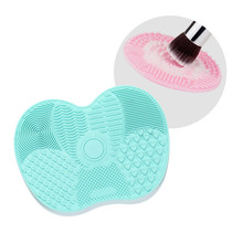 6 Colors Silicone Brush Cleaner Pad with Sucker Multi-Pattern Gel Brushes Washing Scrubber Board Makeup Tool Cleaning Mat(China)