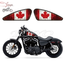 Canada Flag Graphics Fuel Tank Decals Stickers For Harley Sportster XL 883 1200 X/V/R/N/L/C Iron Forty Eight Seventy Two