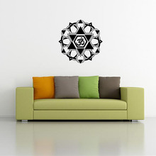 New arriving mandala wall stickers creative art vinyl home decal indian buddha symbol mural room decoration buddhism sticker