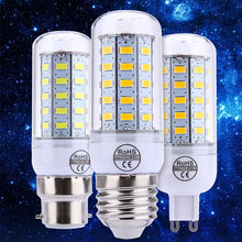 Lightme E14 E27 G9 GU10 B22 4.5W 400 - 450LM SMD 5730 LED Corn Bulb 48 LEDs Bedroom High Brightness LED Corn Light AC 220V