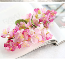 1pcs Natural Vertical Silk Cherry Blossom for Wedding Decoration DIY Cherry Trees Artificial Flower Bouquet 2 Colors Mi3