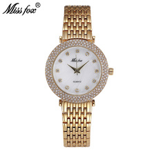 MISSFOX Classic Watches Women Fashion Watch 2017 Female Quartz Wristwatch Gold Simple Ladies Chinese Wrist Cheap Womens Watches(China)