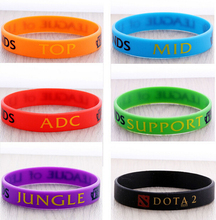 Classic LOL Game Wristband Silicon Bracelet League of Legend Bangles ADC,Jungle,Support,Mid,Top Charms Collection Silicone ZBLC