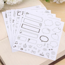 6 Sheet/lot Children Kids Scrapbooking Diary Album Decoration Adhesive Stickers DIY Kid's Toy Gift Stickers