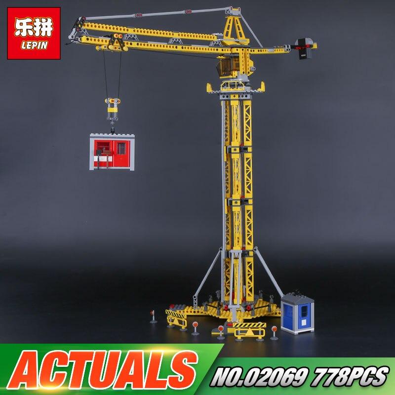 Lepin 02069 Genuine 778Pcs City Series The Building Crane Set 7905 Building Blocks Bricks Funny Toys As Boy`s Gift For Birthday<br>
