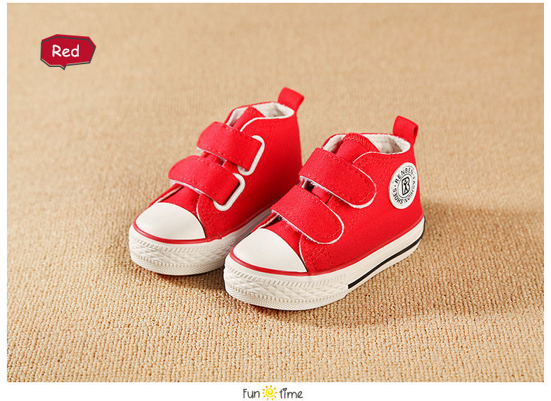 Baby shoes Girl Children Canvas shoes Boys 17 Spring Autumn Fashion High Cotton-made Baby girl little kids shoes 17