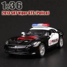 Brand New 2013 SRT Viper GTS 1:32 Alloy Diecast Model Car Toy Police Car Collection For Boy Children As Gift