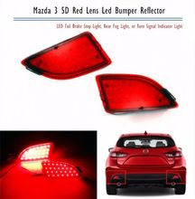 Rear Bumper Reflector LED Brake Tail Fog Backup Light 2013-up For Mazda3 Mazda 3 Axela BM 5D