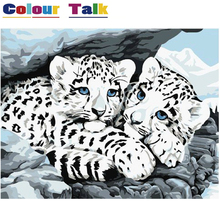 Frameless Tiger Oil Painting Coloring by Numbers Home Decoration DIY Art Unframed Canvas Wall Paper for Bedroom Drawing P-0208