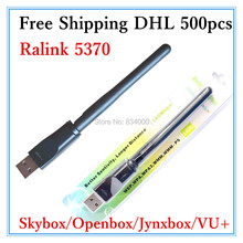 Free shipping DHL 500pcs Skybox usb wifi adapter wireless for Skybox F3/M3/F4/F5 openbox x5/X5 Dreambox RT5370 usb wifi adapter(China)