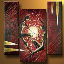 Hand Painted Abstract Dancer Oil Paintings On Canvas Modern Home Decor Wall Art Graffiti Sports Painting Acrylic Artwork Picture