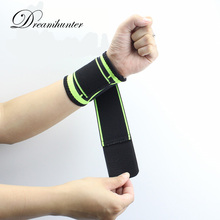 1 PC Bandage Wrist Supports Gym Sports Weight Lifting Tennis Wrist Wraps Strap Protectors Hand Wristbands Brace(China)